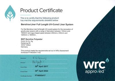 WRc Approval - Produktzulassungen